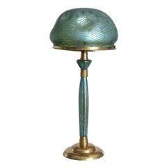 Loetz Art Nouveau Table Lamp by, Leopold Bauer