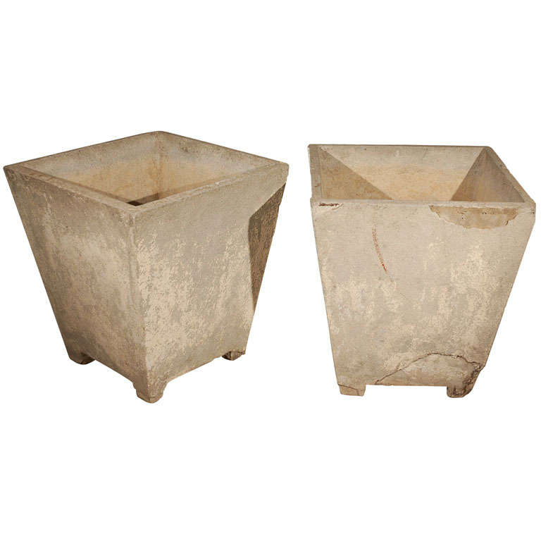 Cast concrete canted planter at 1stdibs - Casting concrete planters ...
