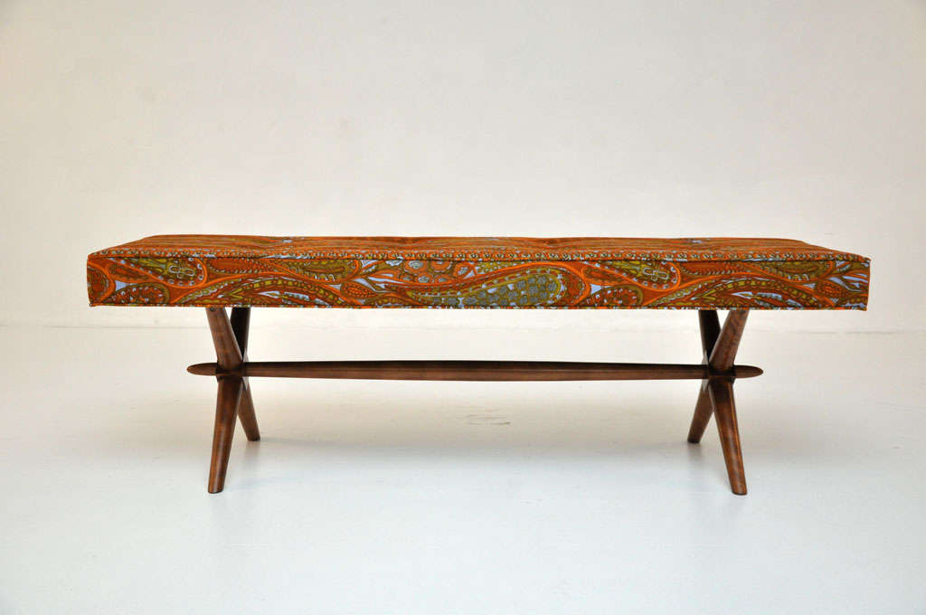 Mid-Century Modern T.H. Robsjohn-Gibbings bench For Sale