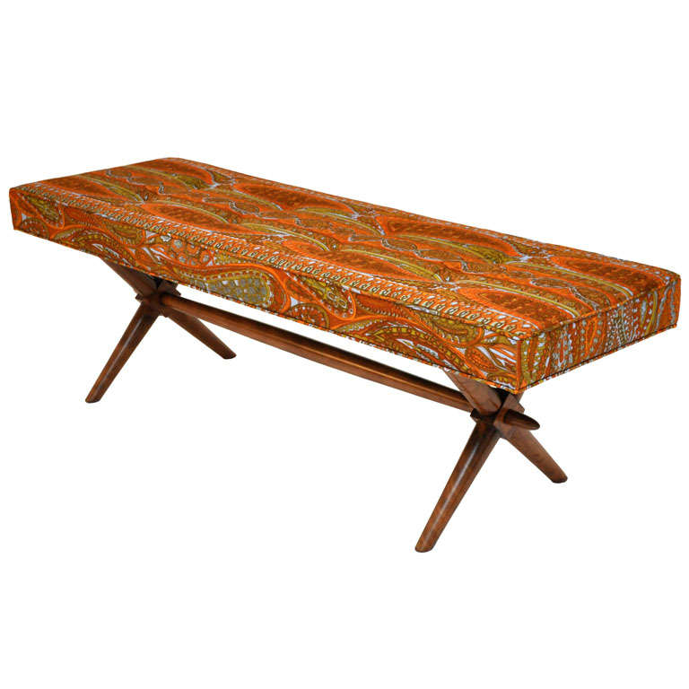 T.H. Robsjohn-Gibbings bench For Sale