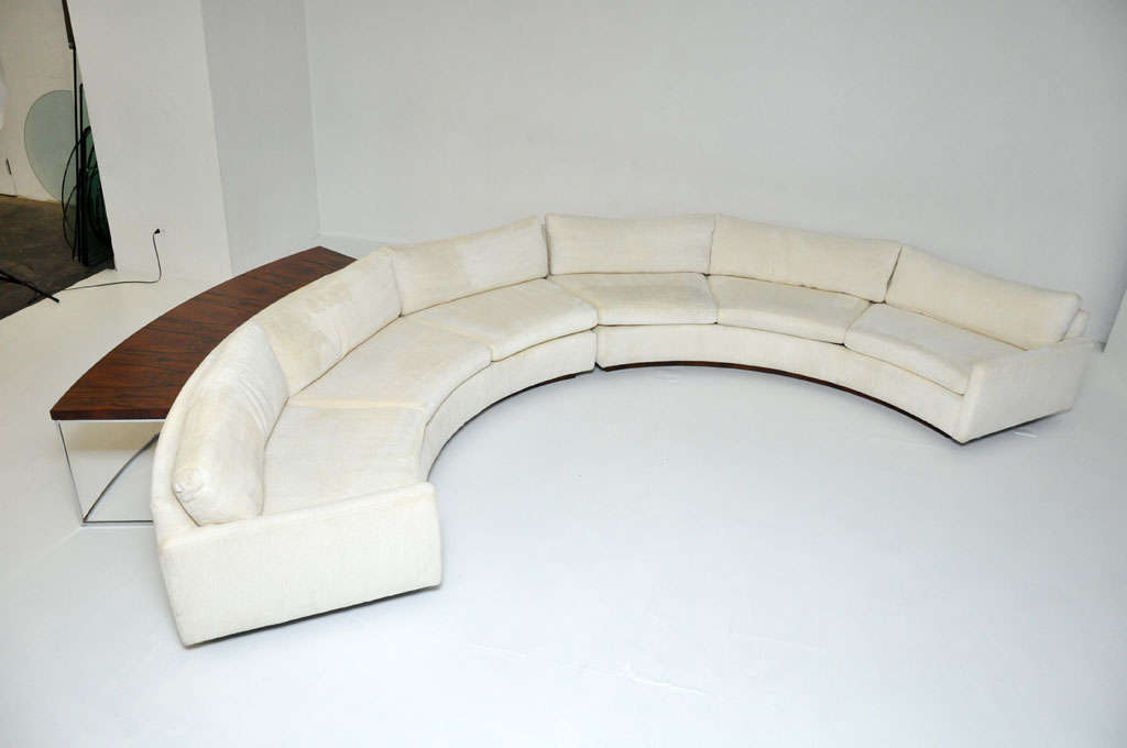 Milo Baughman Semi-circle Sofa W/ Console Table 2