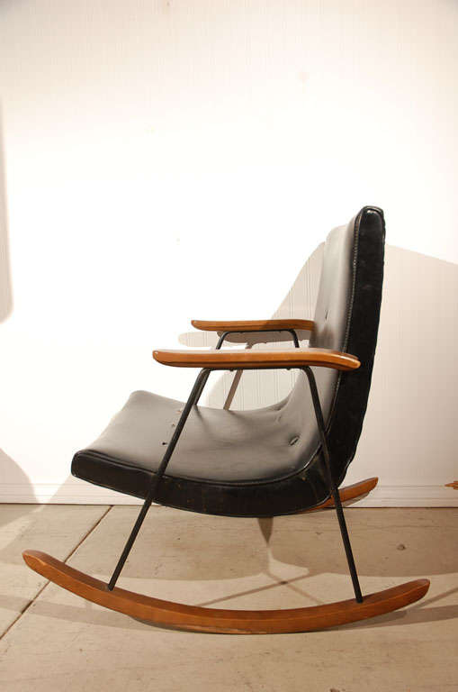 Milo Baughman for Thayer Coggin Rocking Chair at 1stdibs