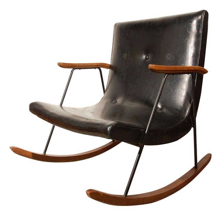 Milo Baughman for Thayer Coggin Rocking Chair at 1stdibs