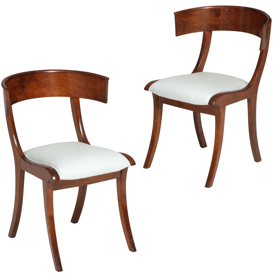A Pair of Danish Klismos Chairs at 1stdibs