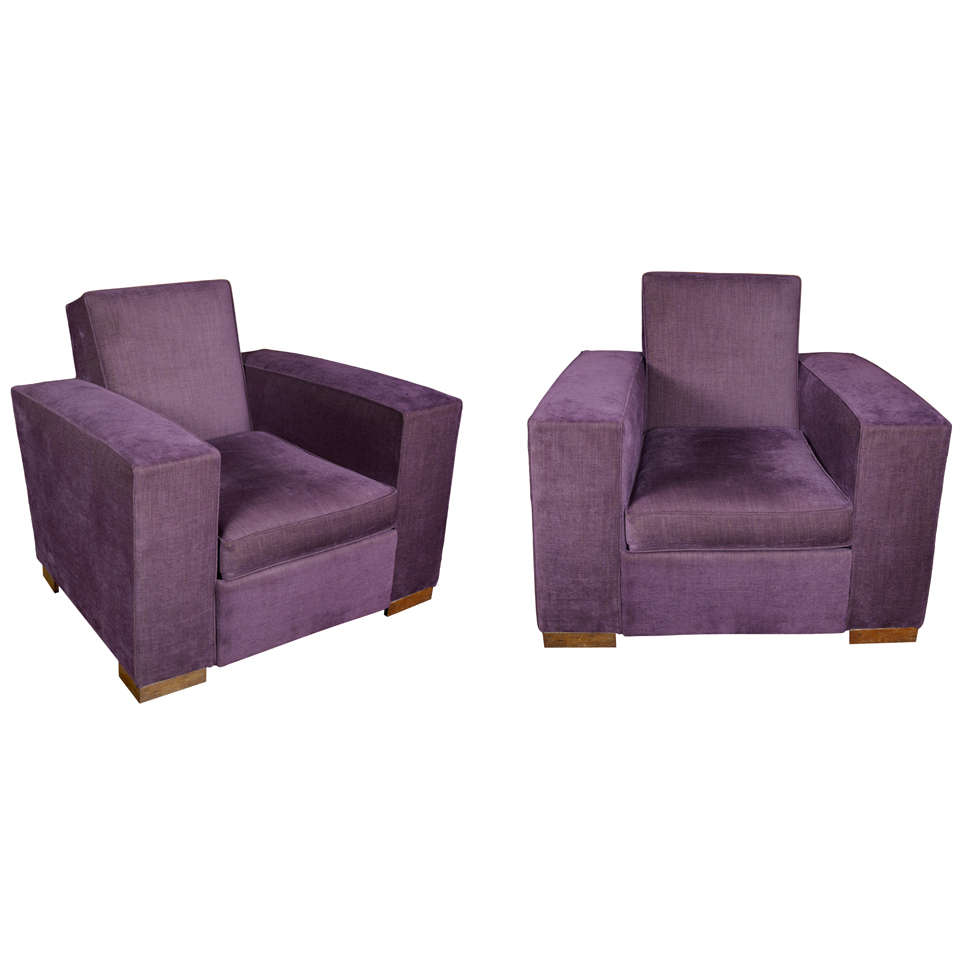 Pair of large and comfortable adnet armchairs at 1stdibs for Large comfy armchairs