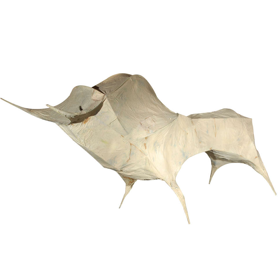 Life size paper m ch bull sculpture by tom dixon for sale for Paper mache objects