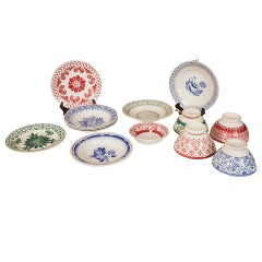Vintage 1930 Stencil Plates and Bowls