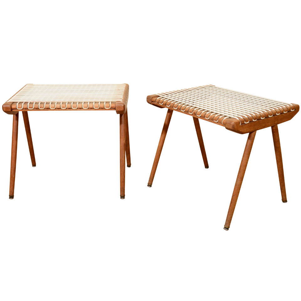 Louis Sognot Woven Benches
