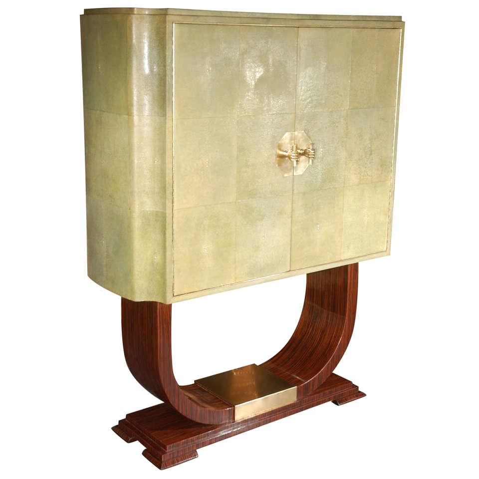 Rare Art Deco Italian Bar Cabinet At 1stdibs
