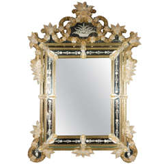 Breathtaking Venetian Reversed Etched Mirror