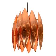 Copper Kastor Pendant by Jo Hammerborg for Fog & Mørup