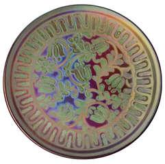 Lustre-Glazed Burmantofts Pottery Charger by Leonard King, English