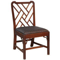 English Fret Work Side Chair
