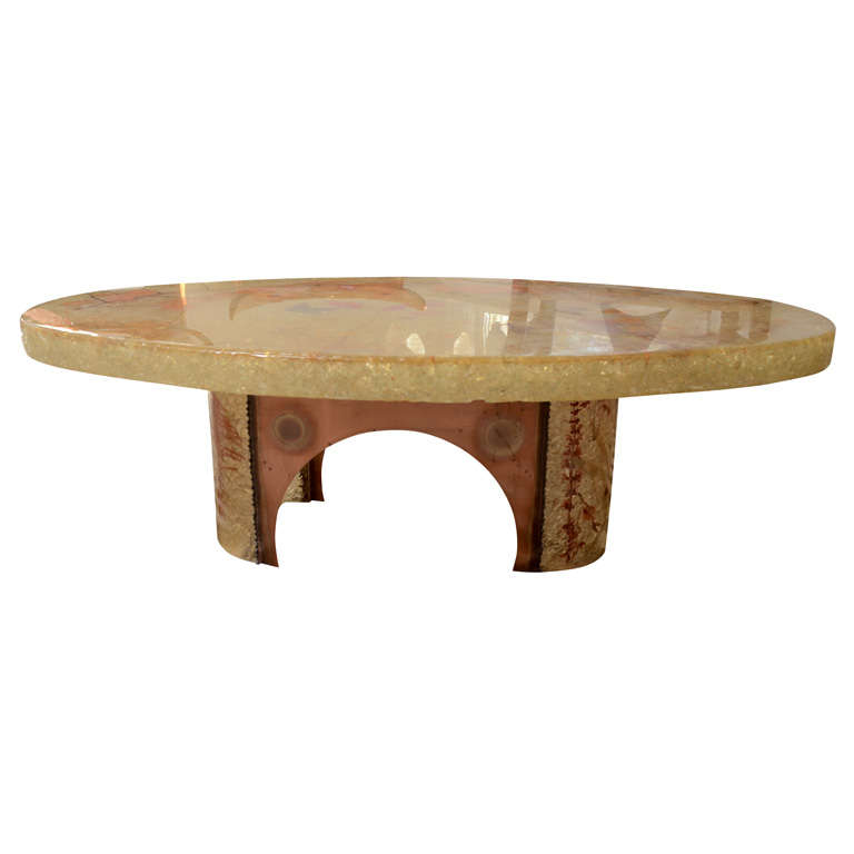 Lighted resin coffee table at 1stdibs Led coffee table