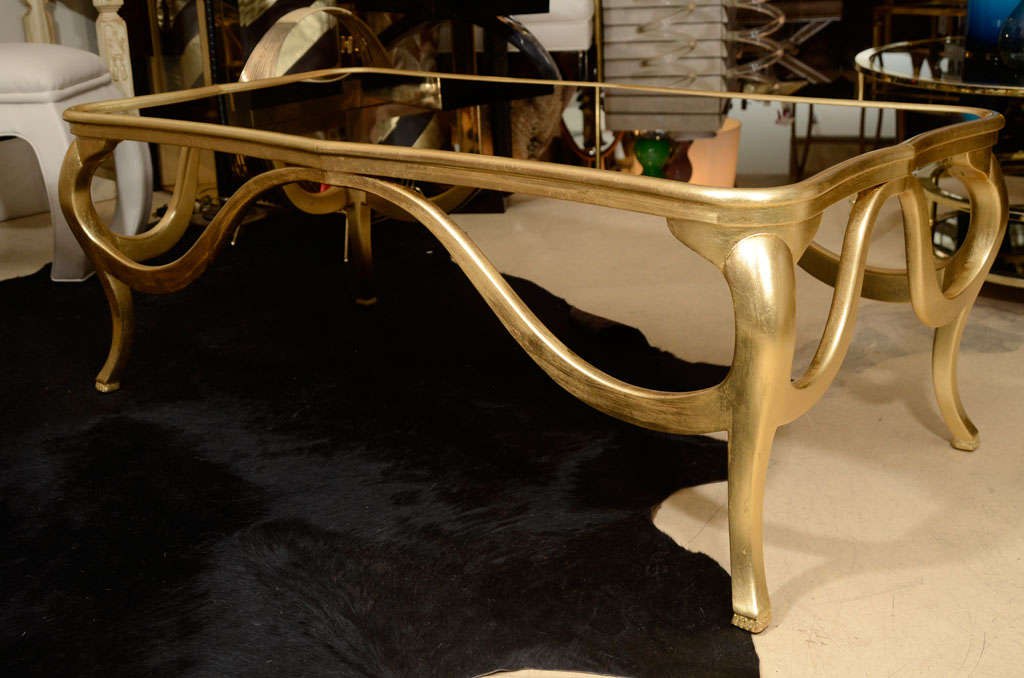 Gold Leaf Coffee Table For Sale At 1stdibs