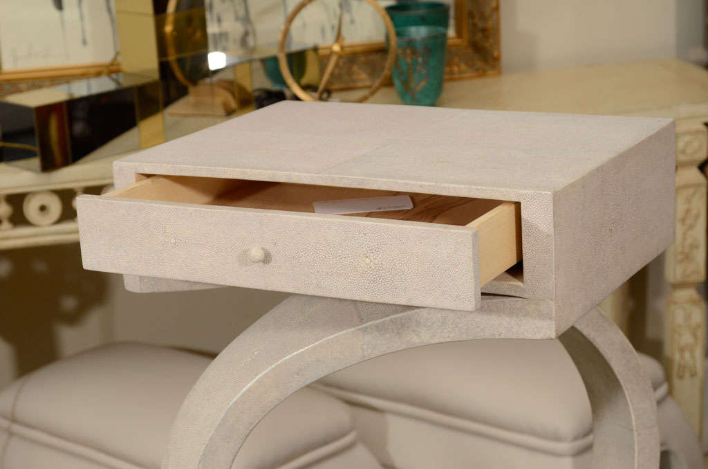 Hand-Crafted Shagreen Side Tables or Nightstands For Sale