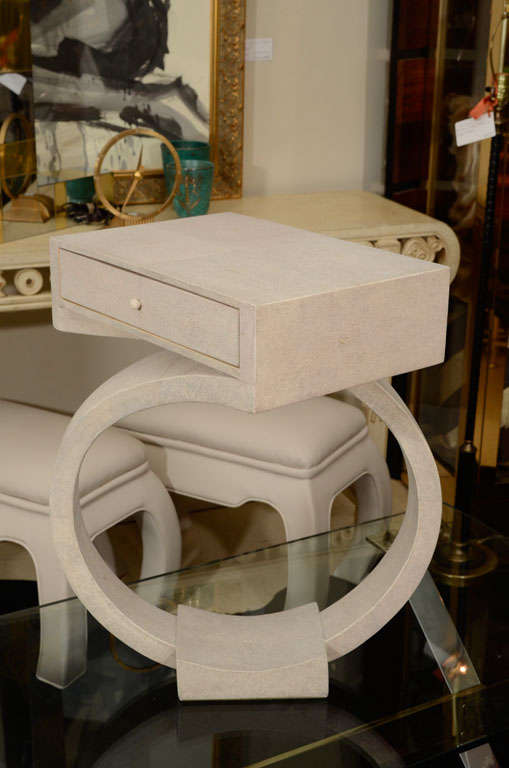 Shagreen Side Tables or Nightstands In Excellent Condition For Sale In New York, NY