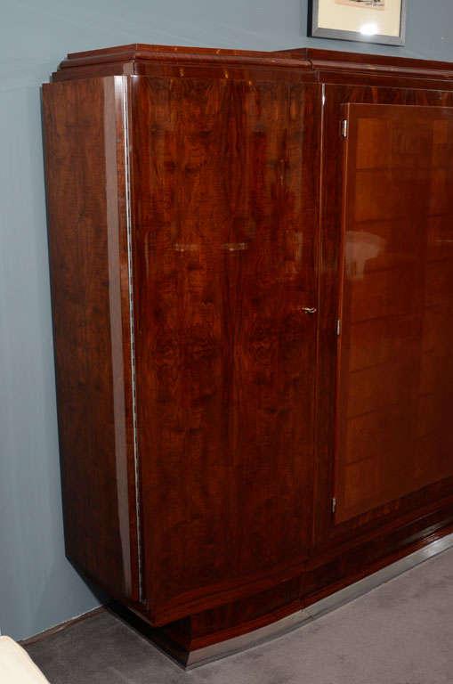 Jules Leleu, Large Lacquered Walnut Cabinet, France, 1933 For Sale 1