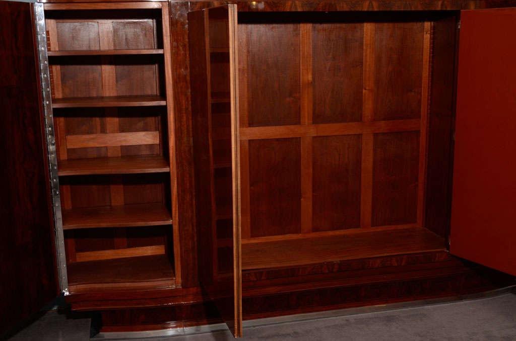 Jules Leleu, Large Lacquered Walnut Cabinet, France, 1933 For Sale 2