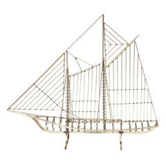 Curtis Jere Brass Boat