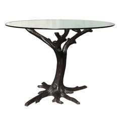 Contemporary Bronze Tree-Trunk Dining Table Base or Sculpture from Thailand