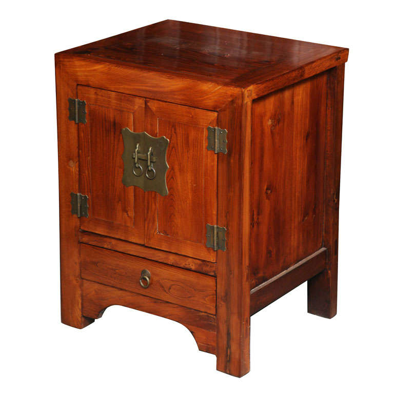 Elmwood Kitchen Cabinet Door Styles: Shanxi Style Elmwood Bedside Cabinet With Traditional