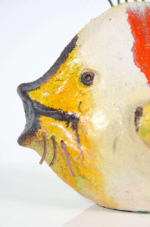 Tropical ceramic fish sculpture by ivo de santis gli for Ceramic fish sculpture