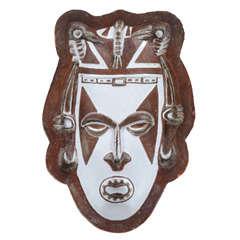 Ceramic 'Tribal' Mask by Società Anonima Ceramiche Zaccagnini