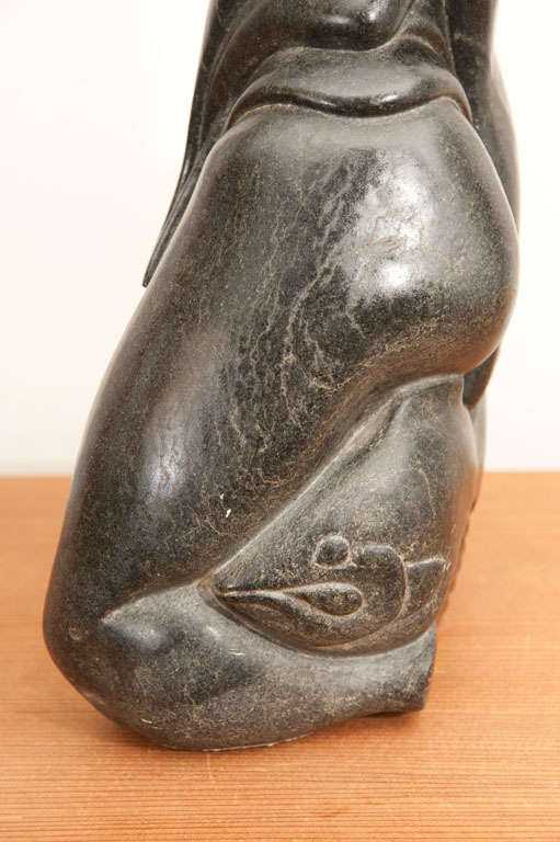Inuit serpentine stone carving for sale at stdibs