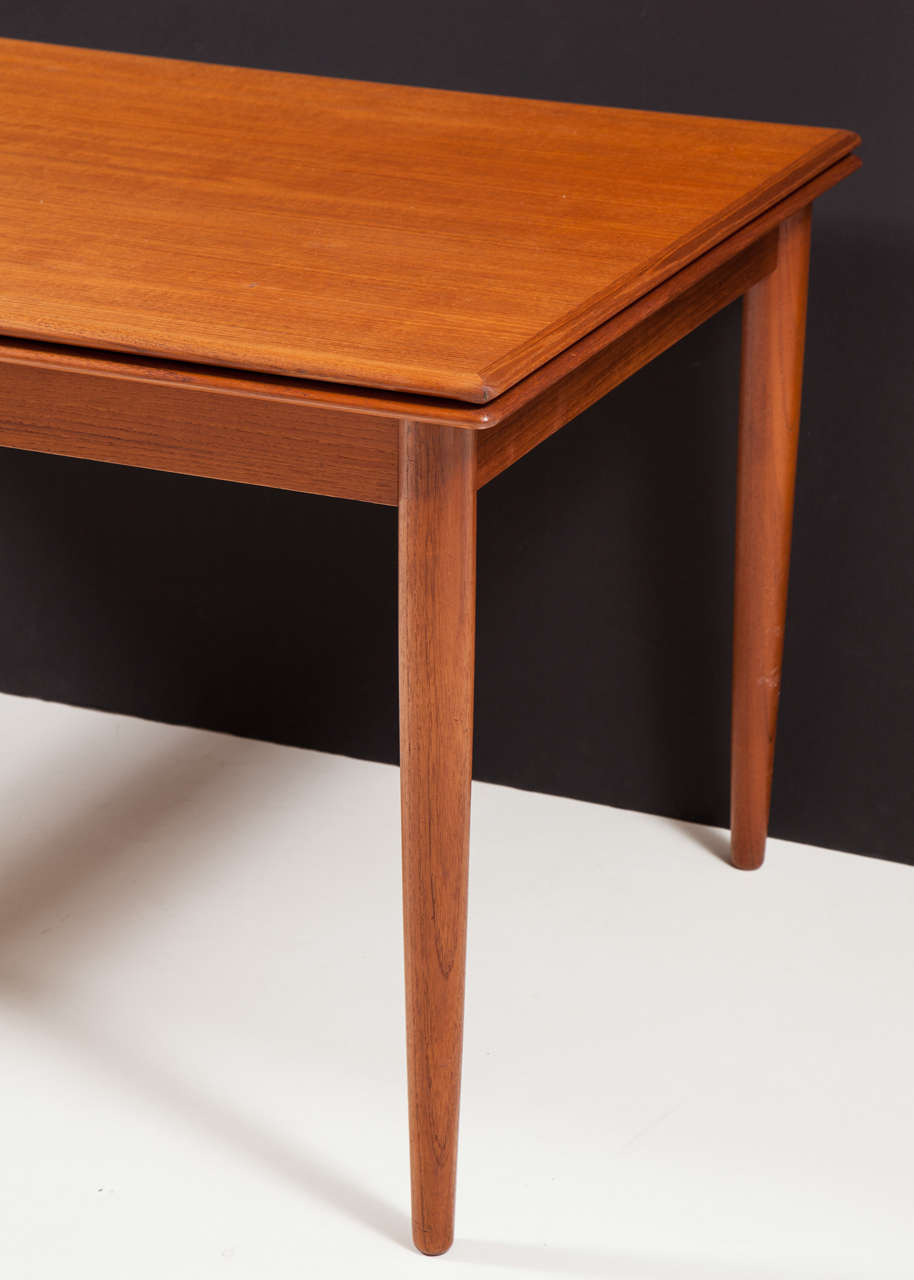 Modern Dining Table With Pull Out Leaves Seats Ten At 1stdibs