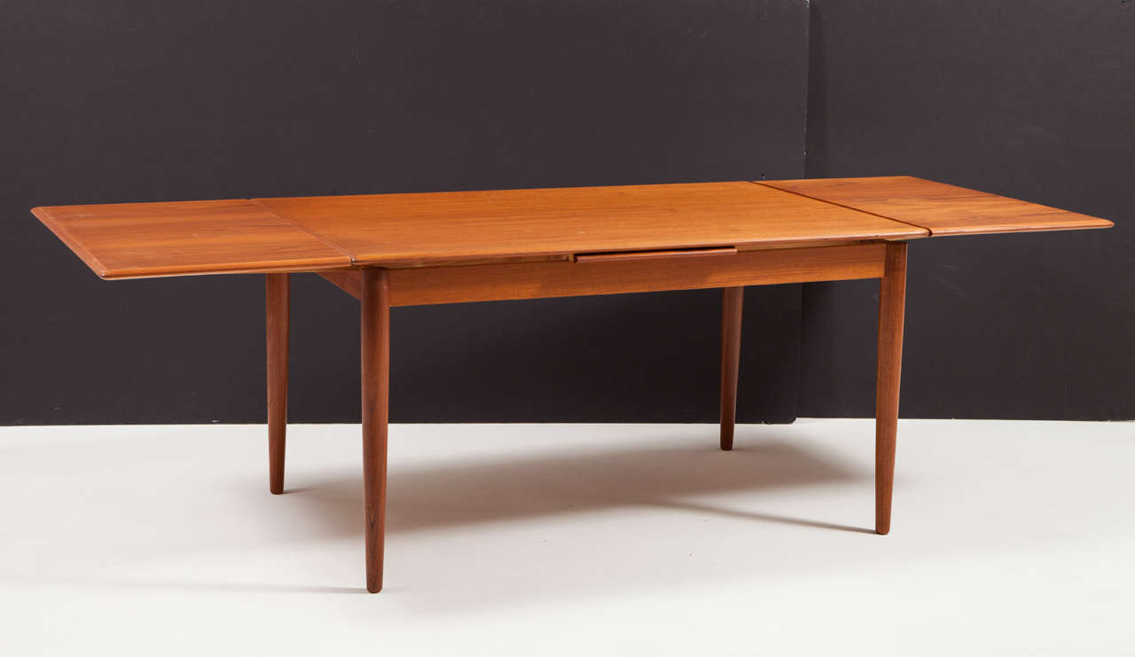 Modern dining table with pull out leaves seats ten at 1stdibs for New dining table