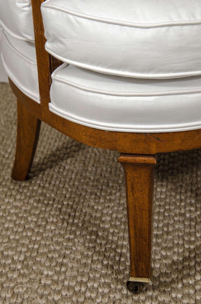 Antique barrel chairs - Vintage Barrel Back Chair 3