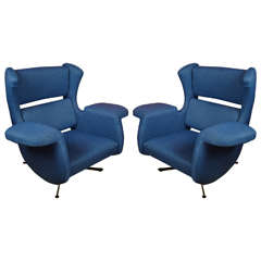 1970s Paolo Tilche Armchairs
