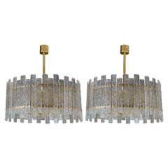 Pair of Nice Murano Glass Chandeliers