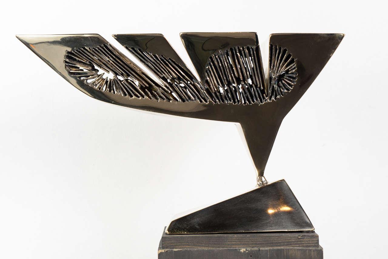Modern Dietrich Mohr Gold Bronze Sculpture For Sale