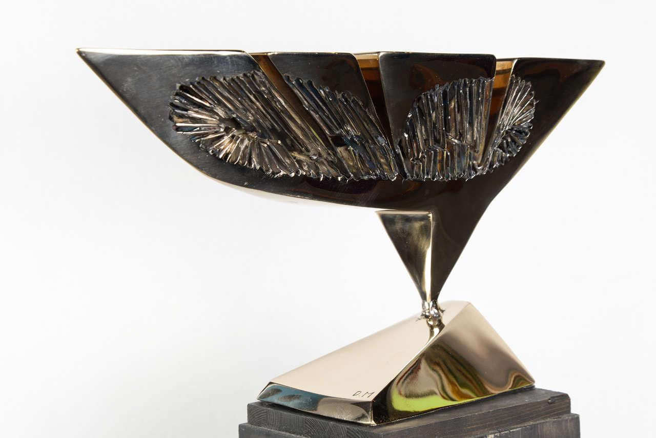 Late 20th Century Dietrich Mohr Gold Bronze Sculpture For Sale