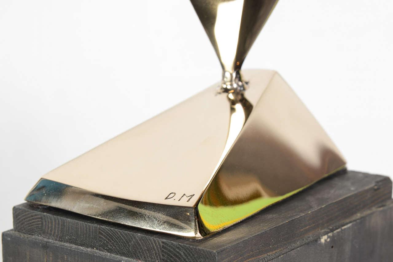 Dietrich Mohr Gold Bronze Sculpture For Sale 1