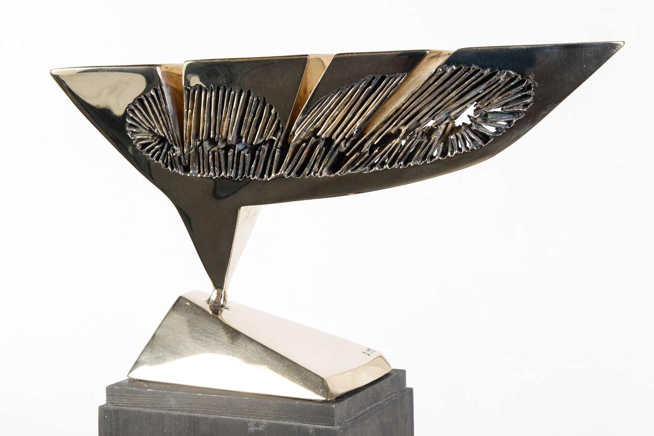 Dietrich Mohr Gold Bronze Sculpture For Sale 2