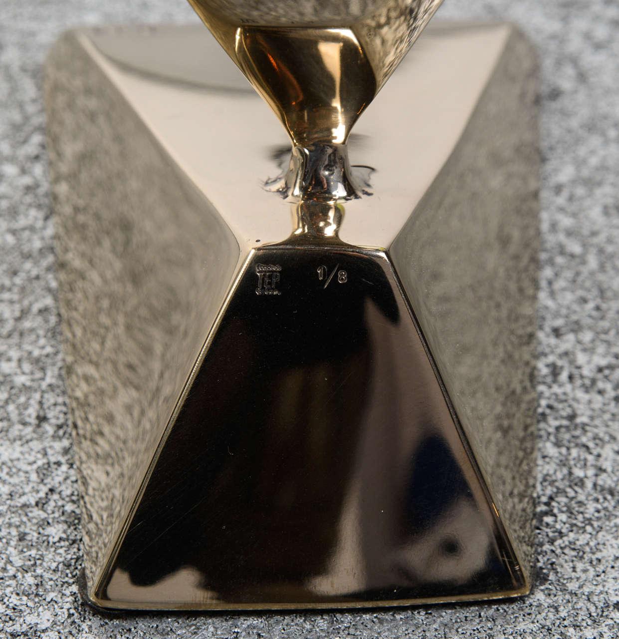 Dietrich Mohr Gold Bronze Sculpture For Sale 3
