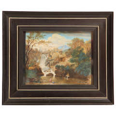 Late 17th Century Landscape Painting by Vanvitelli in a Period Frame