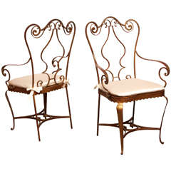Pair of French 1940s Neo-Rococo Armchairs