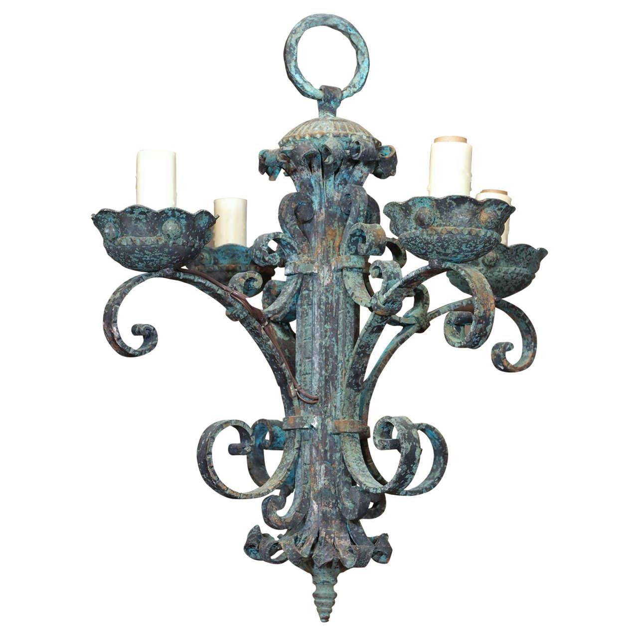 Italian Baroque Wrought Iron Chandelier At 1stdibs