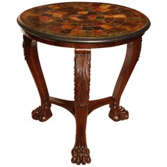Early 19th Century English Regency Table with Faux Specimen Marble Top