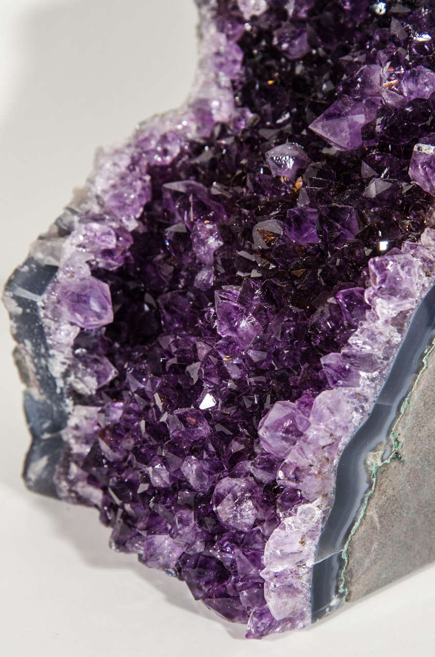 Pair of Spectacular Large-Scale Natural Amethyst Bookends 10