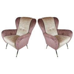 Pair of Comfortable 1950s Italian Armchairs by Radice
