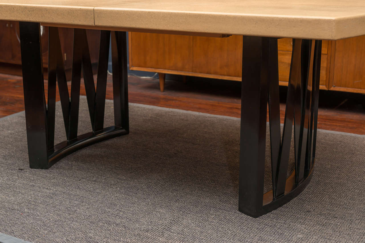 dining room furniture cork | Paul Frankl Cork Dining Table at 1stdibs