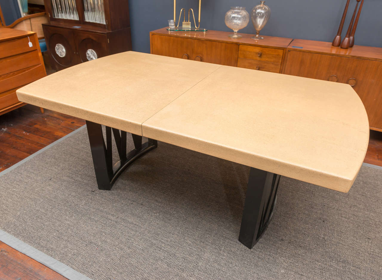 Exceptionnel American Paul Frankl Cork Dining Table For Sale