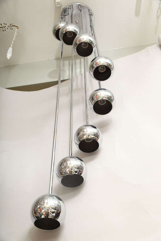 An 8 Light American Ceiling Fixture image 7