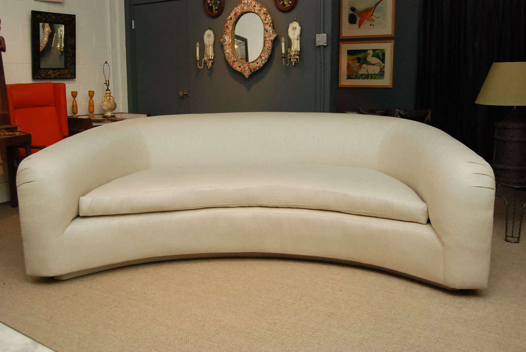 A Pair Of Crescent Shaped Sofas At 1stdibs