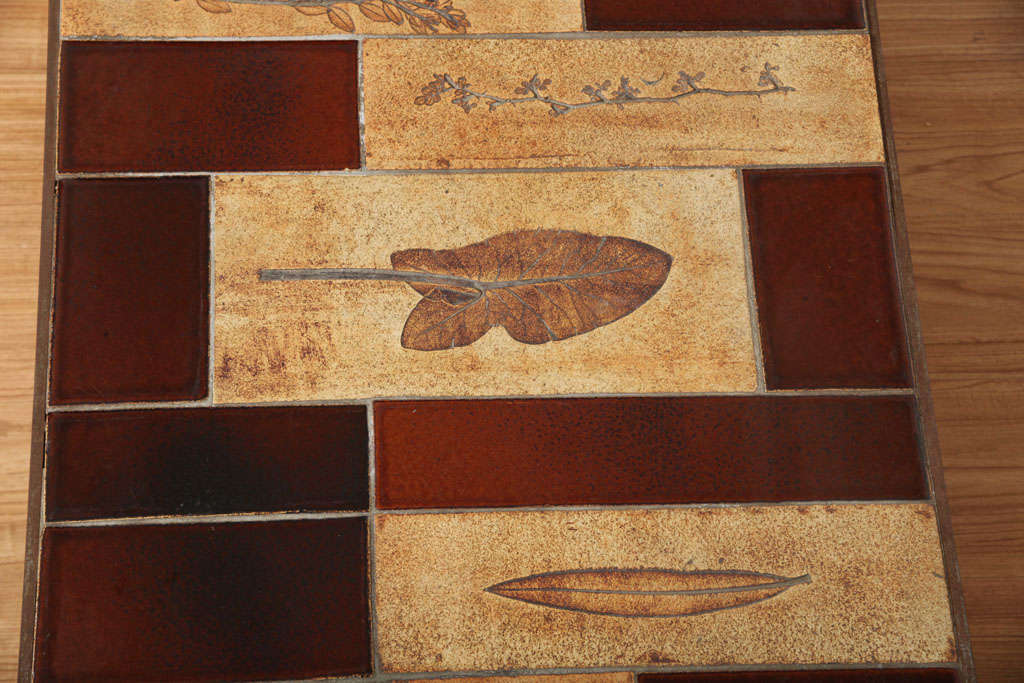 20th Century Roger Capron Coffee Table with Garrigue and Lava Tiles For Sale